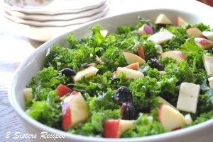 Spring Kale Salad for Thanksgiving by 2sistersrecipes.com