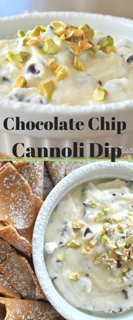 Chocolate Chip Cannoli Dip by 2sistersrecipes.com