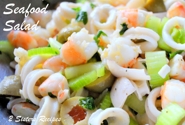 Seafood Salad Marinated for Christmas by 2sistersrecipes.com