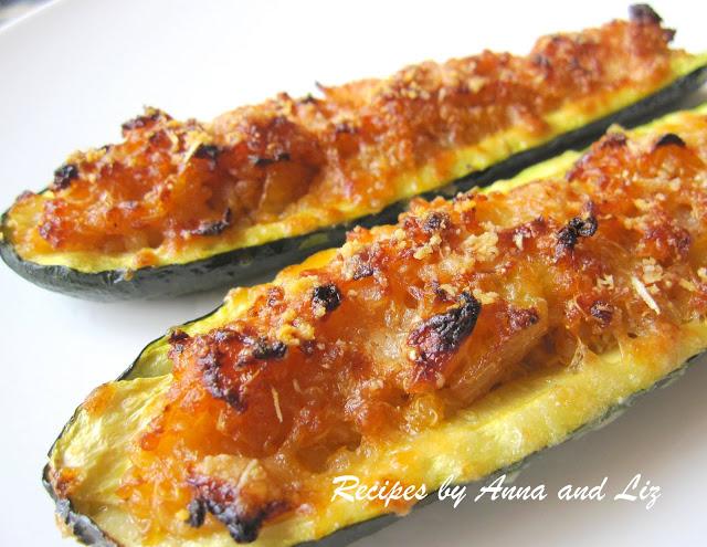 Quinoa Stuffed Zucchini by 2sistersrecipes.com