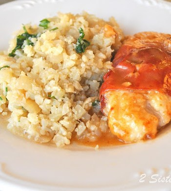 Chicken Saltimbocca with Cauliflower Rice by 2sistersrecipes.com