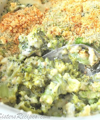 Broccoli and Bleu Cheese Casserole , by 2sistersrecipes.com