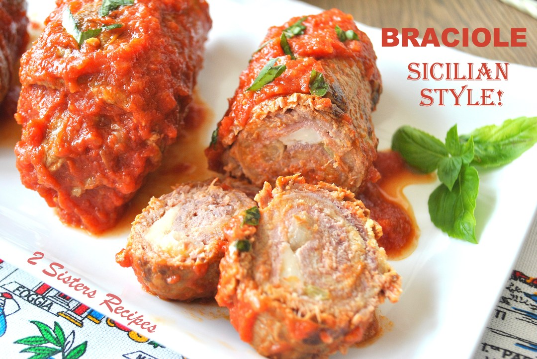 Braciole - Sicilian Style! by 2sistersrecipes.com