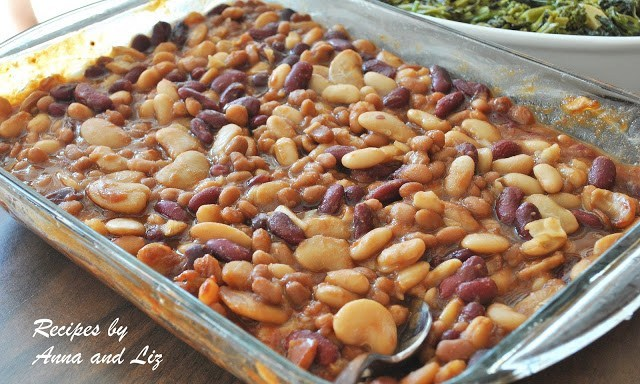 Drunken Baked Beans by 2sistersrecipes.com