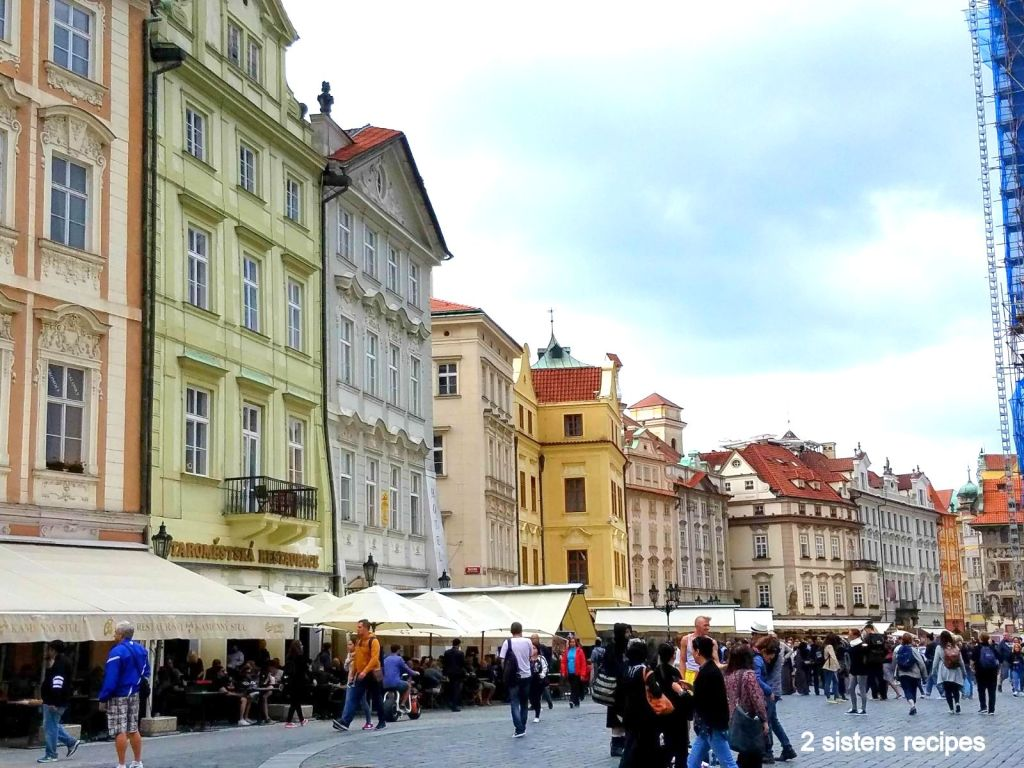 Ole Town Square in Prague, by 2sistersrecipes.com