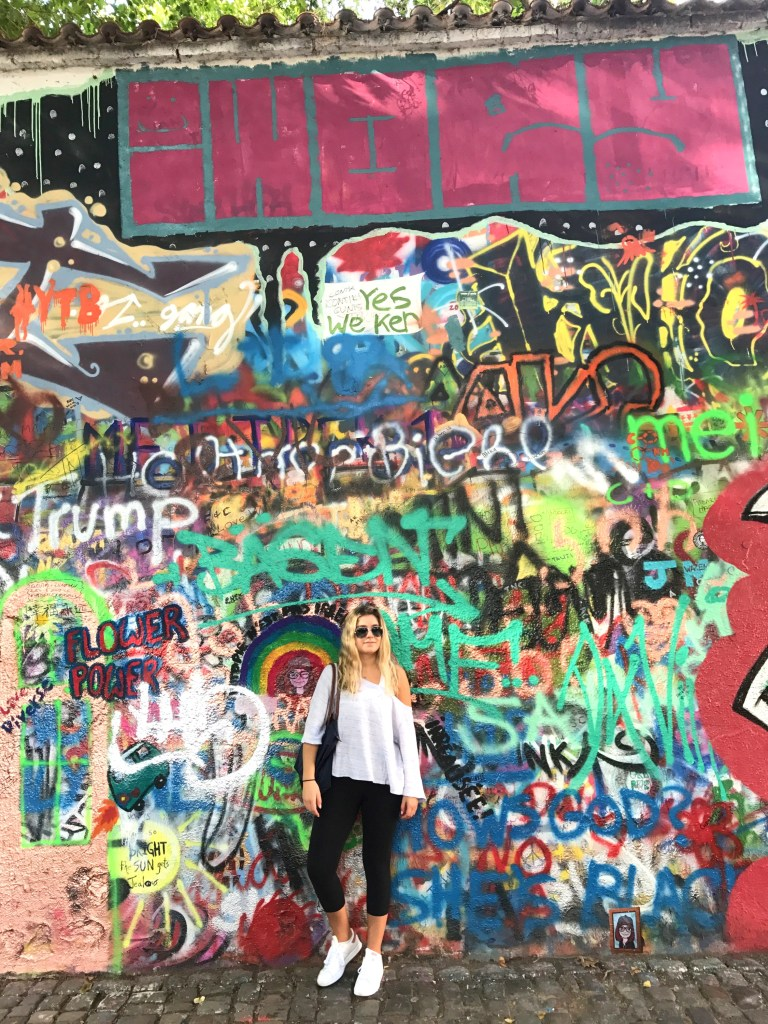 John Lennon Wall in Prague, by 2sistersrecipes.com