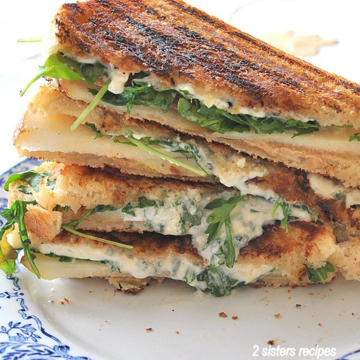 Grilled Cheese and Pear Sandwich 2sistersrecipes.com