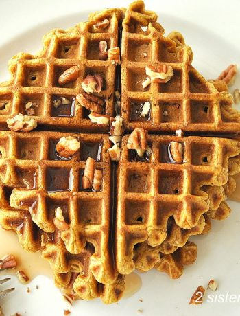 Pumpkin Waffles by 2sistersrecipes.com