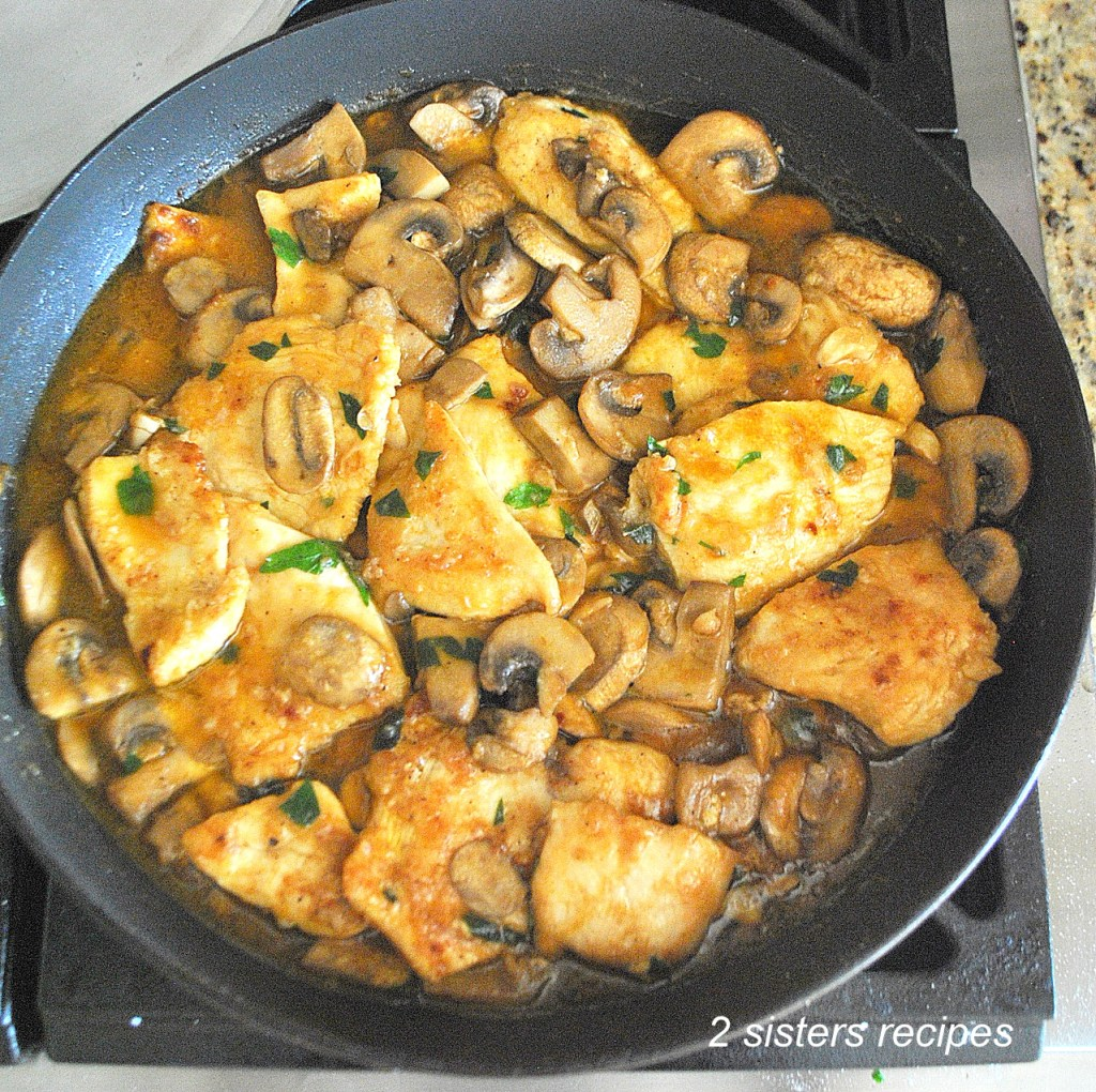 Chicken Smothered with Marsala Mushrooms and Parsley