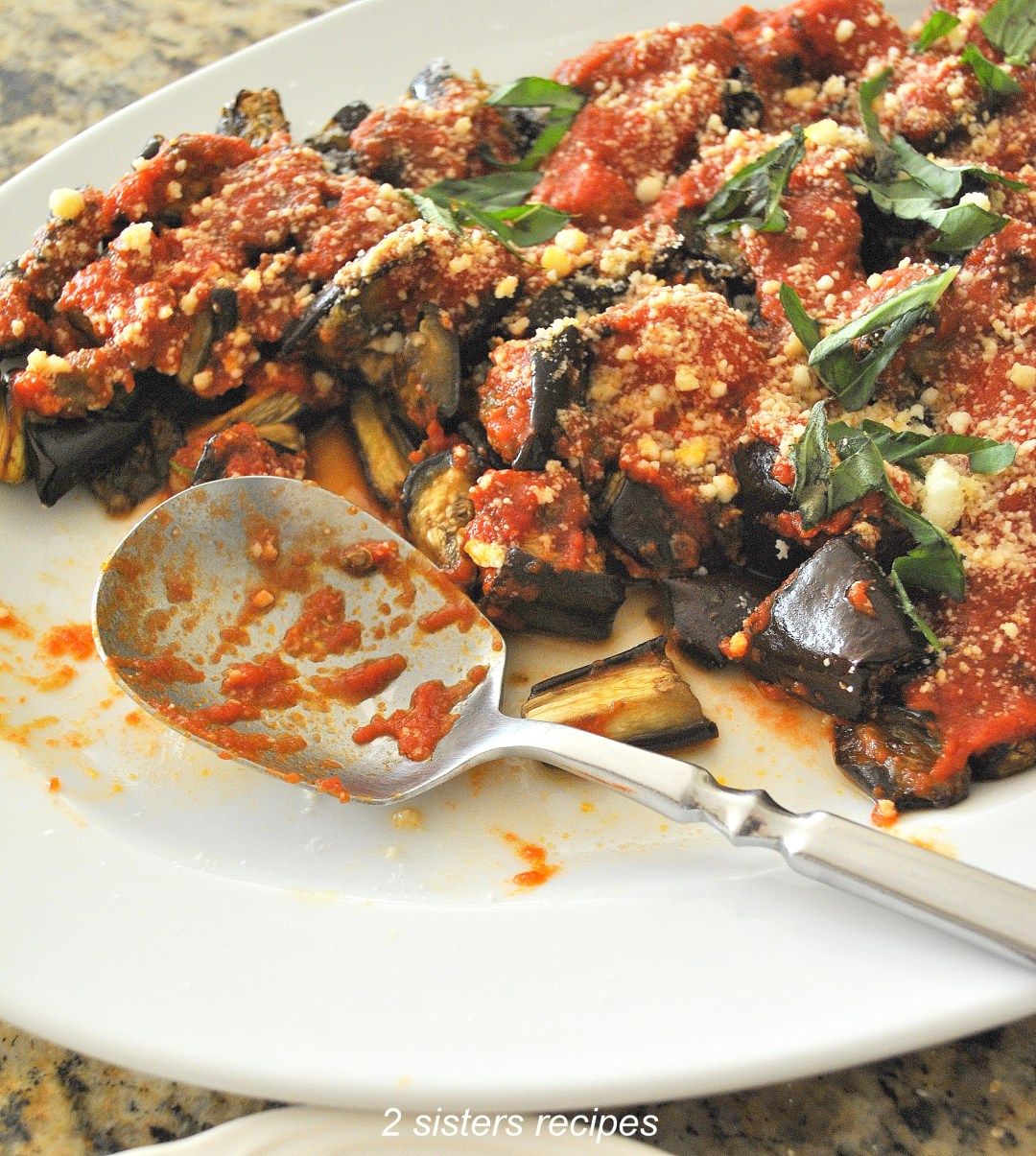 Roasted Eggplant Parm - Lightened! by 2sistersrecipes.com