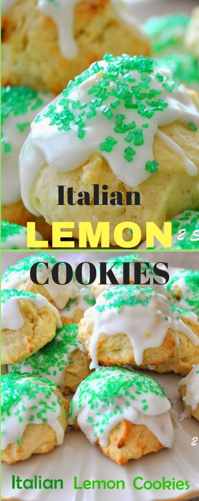 Italian Lemon Cookies With Lemon Glaze For Christmas