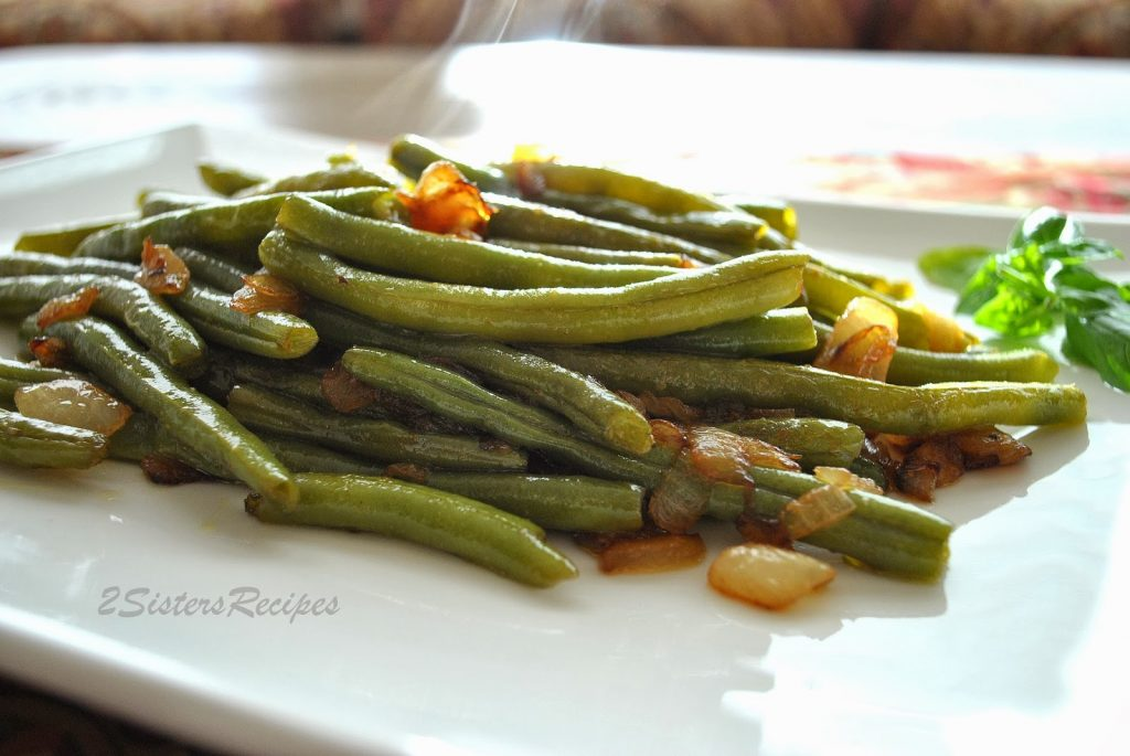 Sauteed Green Beans with Onions by 2sistersrecipes.com