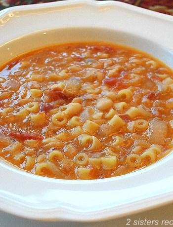 Easy Pasta Fagioli Soup by 2sistersrecipes.com