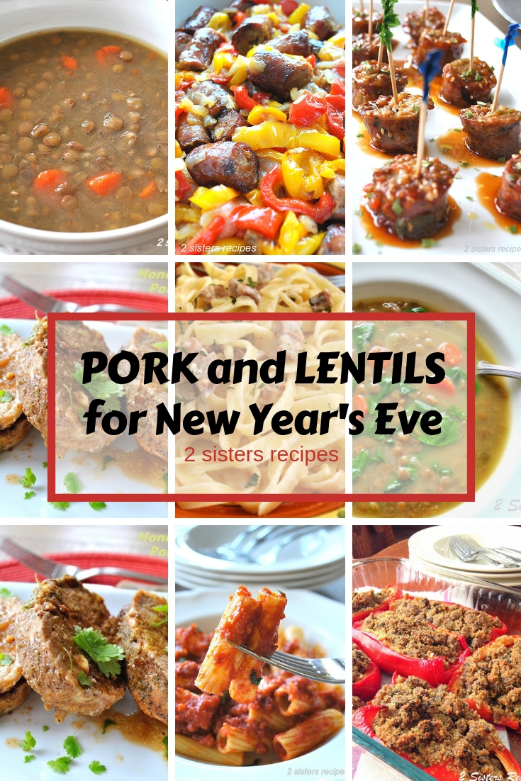 Pork and Lentils by 2sistersrecipes.com