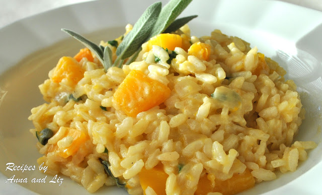 Butternut Squash Risotto with Sage and Cheese by 2sistersrecipes.com