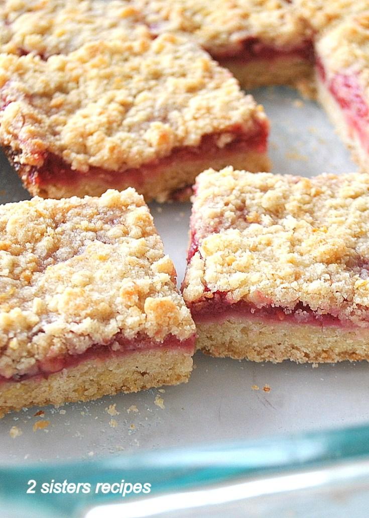 Raspberry Lemon Crumble Bars by 2sistersrecipes.com