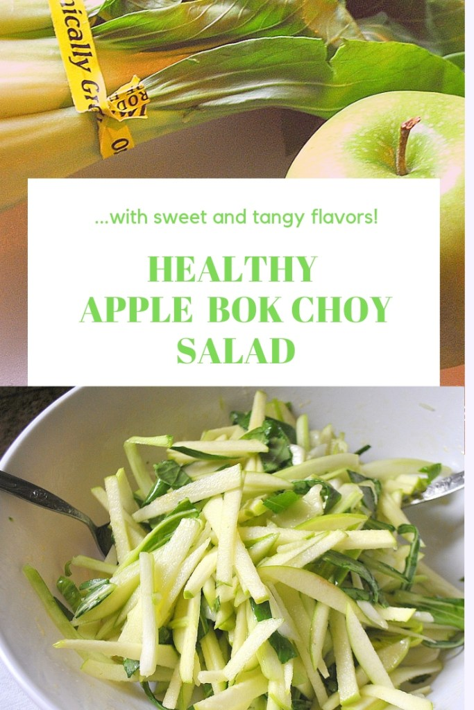 Heatlhy Apple Bok Choy Salad by 2sistersrecipes.com