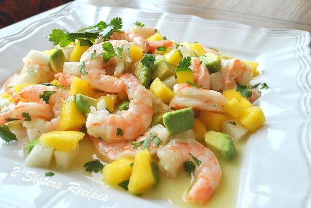 Zesty Lemon Shrimp and Mango Salad by 2sistersrecipes.com