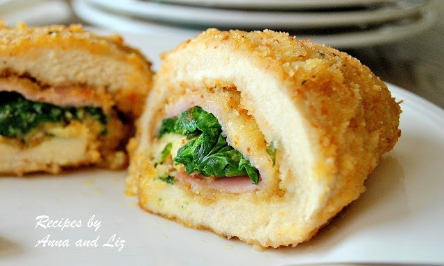 Chicken Rollatini with Ham and Cheese by 2sistersrecipes.com