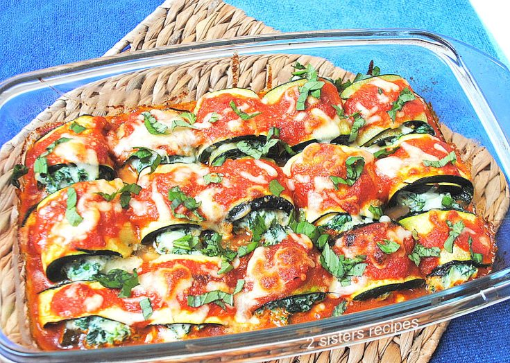 Zucchini Rollatini with Spinach and Cheese