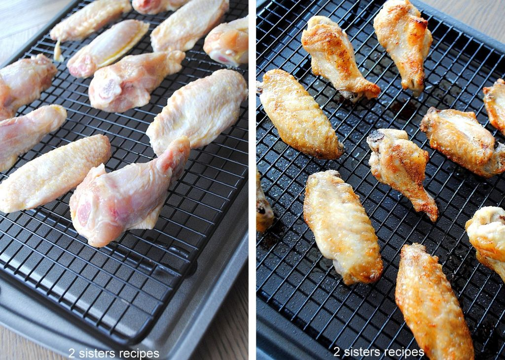 Roasted Spicy Maple Chicken Wings by 2sistersrecipes.com