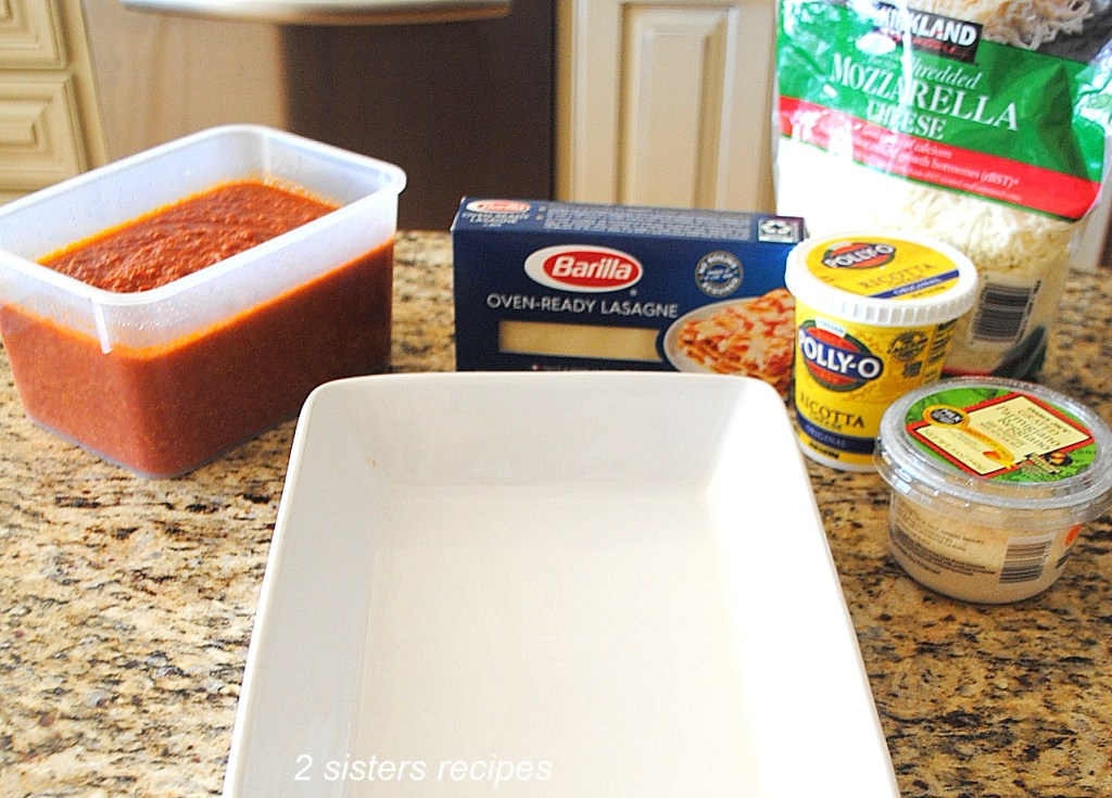 How To Make Lasagna with No Boil Noodles by 2sistesrecipes.com