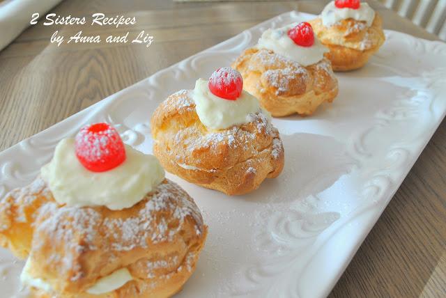 Italian Cream Puff's for St. Joseph's Day by 2sistersrecipes.com