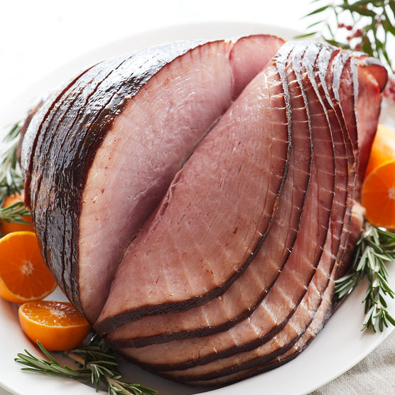 2 Easy Steps for Best Spiral Glazed Ham by 2sistersrecipes.com