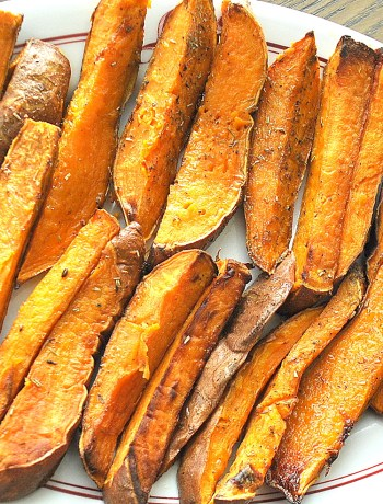 Oven-Fried Sweet Potatoes by 2sistersrecipes.com