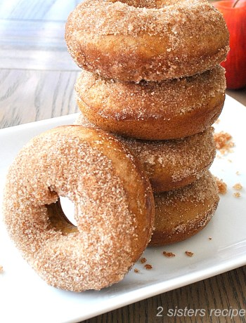 Cinnamon Apple Cider Donuts by 2sistersrecipes.com