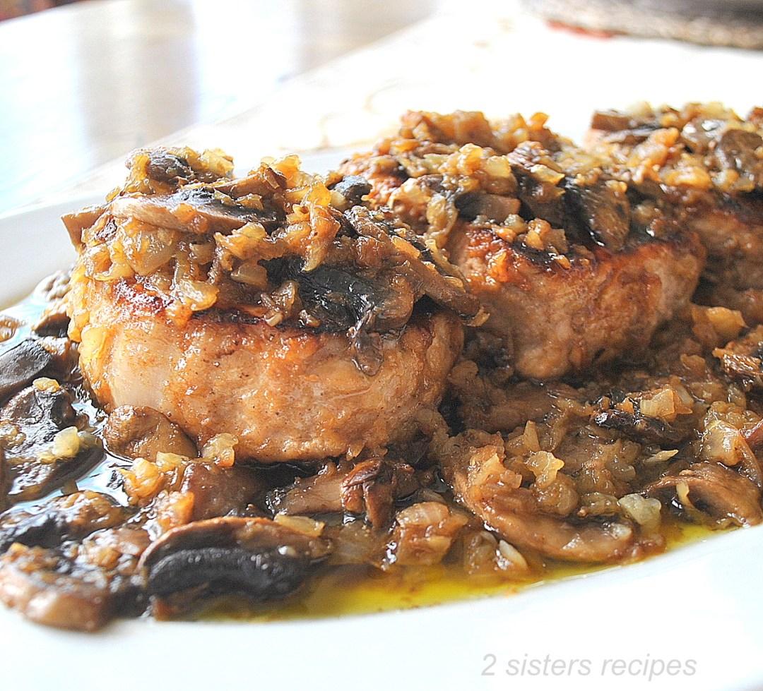 Classic Pork Chop Marsala by 2sistersrecipes.com