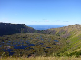 Rano Kau volcano's crater  and wetland, a haven for biodiversity