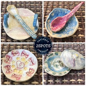 Clay Club dishes & spoons