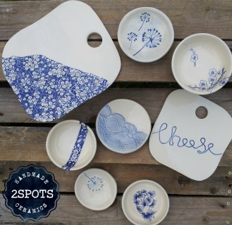 2Spots Ceramics Cheese Boards
