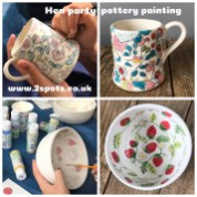 Hen Party Pottery Painting