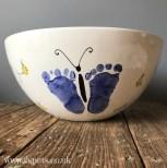 Butterfly footprint bowl