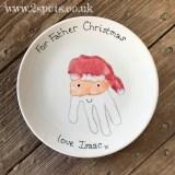 Father Christmas Handprint Plate
