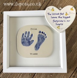 Framed Imprint and special toeprint heart