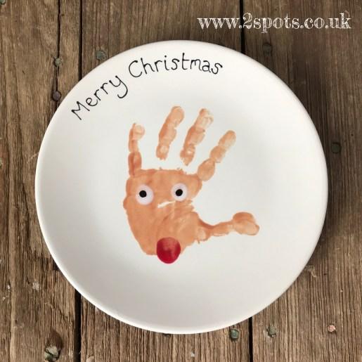 Reindeer Handprint Plate