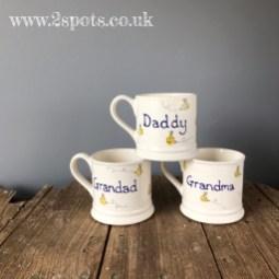 Family toeprint mugs