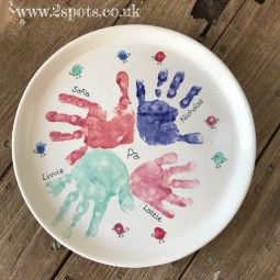 Family handprint plate