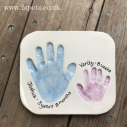 Sibling Clay Imprints in Blue and Purple