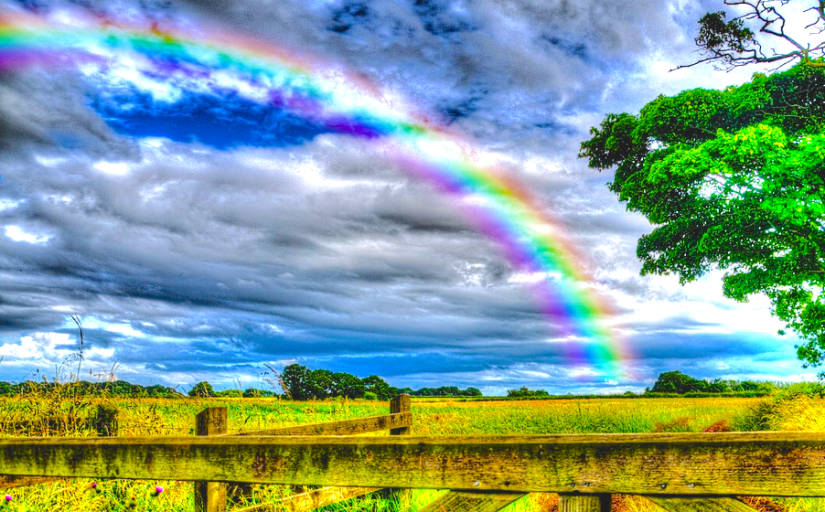 rainbow landscape edit