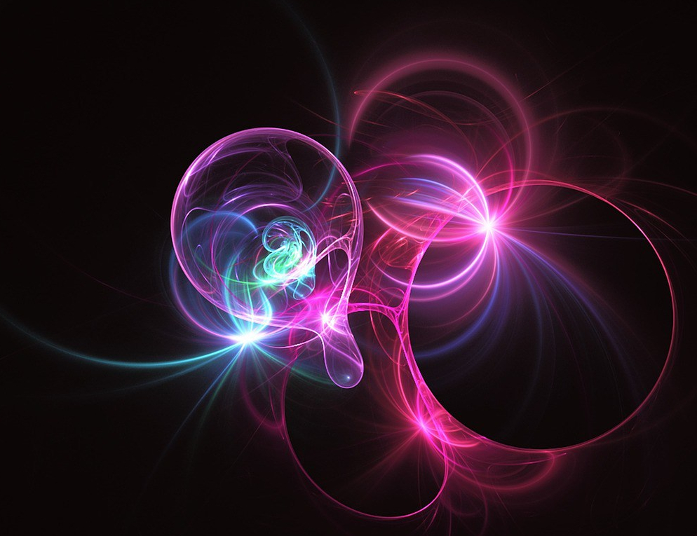 cosmic fractal pinks on black