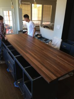 H01-Butcher Block Island top