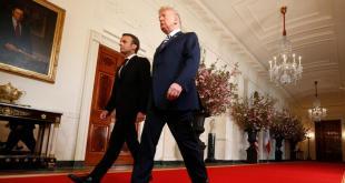 Emmanuel Macron et Donald Trump à Washington le 24 avril 2018. REUTERS/Kevin Lamarque
