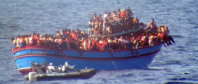 migrants en mer