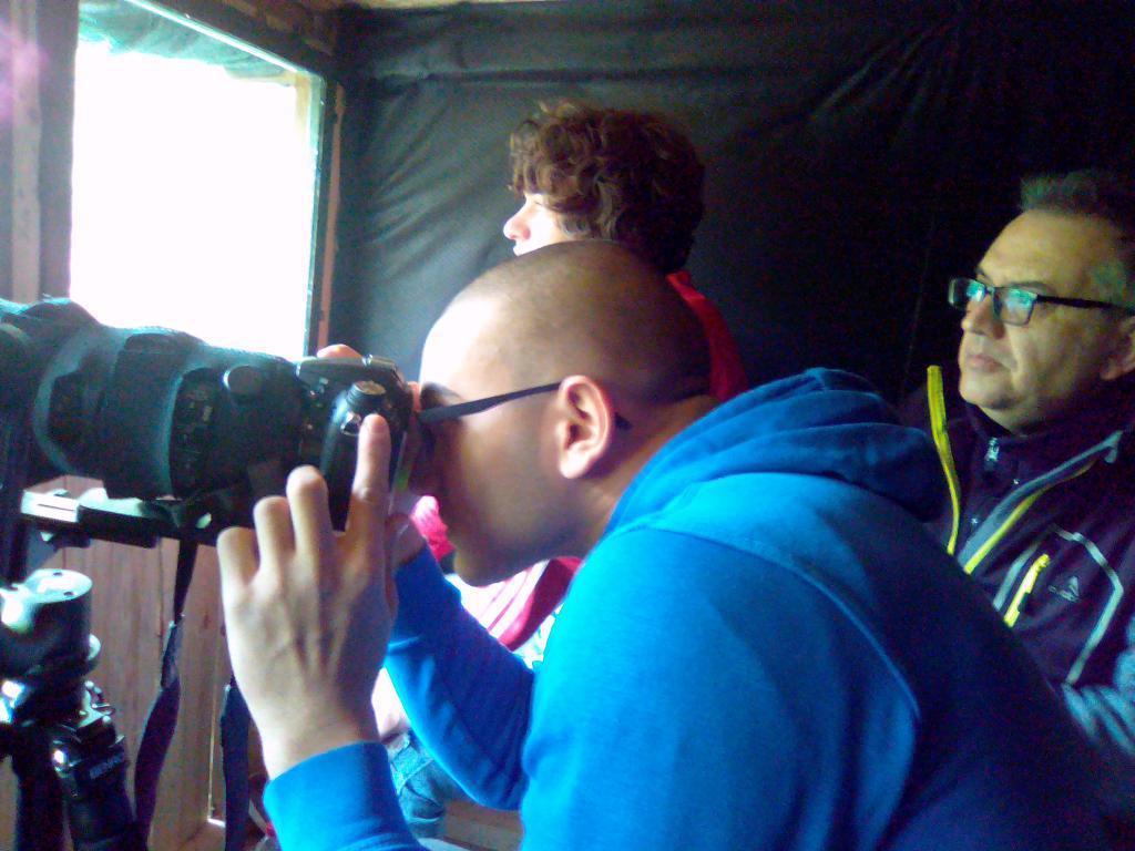 Първи участници в мониторинг на птици и бозайници в пунктове за наблюдение