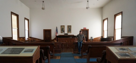 One of the court rooms in the Courthouse