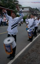 The drummers all had different personal style. They definitely were having fun.